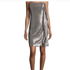 Halston Heritage Strapless Sequin Dress NWT